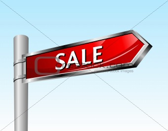 Arrow road sign. Sale