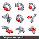 Vector arrows. Design elements