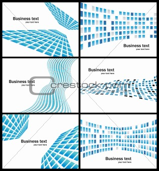 Business abstract background collection
