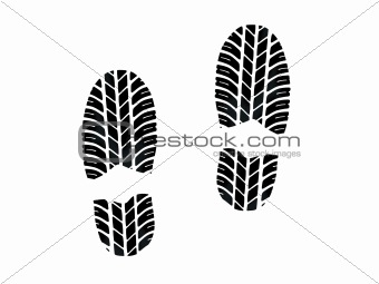 Footprint with tires tread