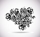 Retro floral design. Abstract vector element
