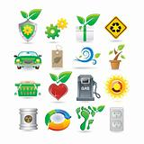 Set of environment icons