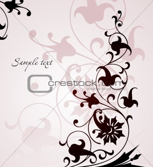 Beautiful floral pink background . Vector