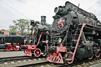 Old soviet locomotives