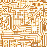 Seamless square texture - vector electronic circuit board