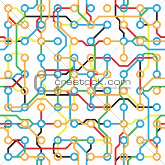 Abstract seamless pattern - electronic color components
