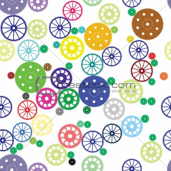Seamless texture of color gears