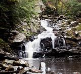 Waconah falls in Berkshires