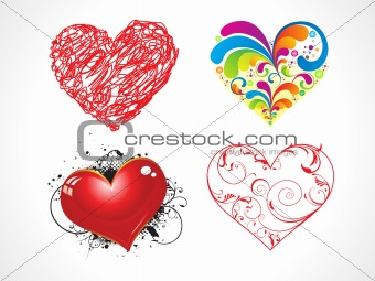 abstract heart set