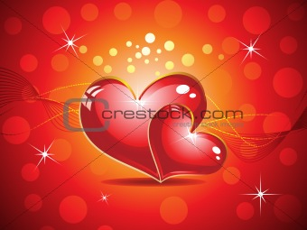 abstract colourful heart background