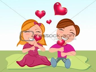 abstract love cartoon