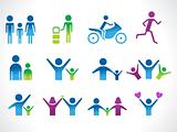 abstract people icon