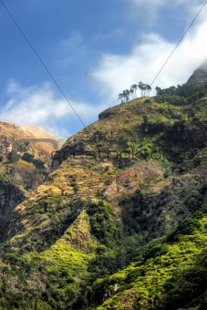 Back mountains of Madeira island, view from Ribeira da Serra – Portugal