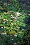 Village on the north coast of Madeira island