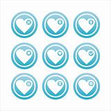 blue hearts signs