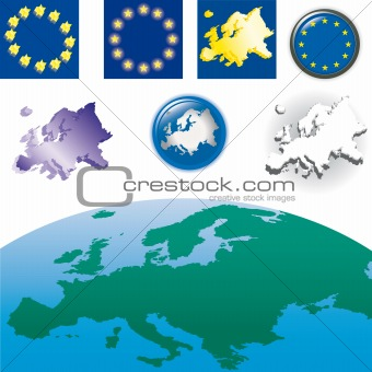 World+flags+border