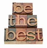 be the best - slogan in letterpress type