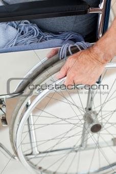 Man in his wheelchair