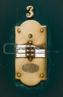 Apartment House Doorbell Plate