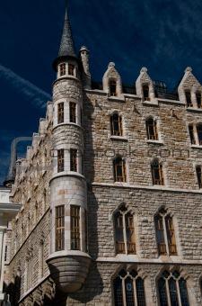 Casa Botines of Gaudi in Leon. Spain