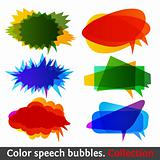 Color speech bubbles collection eps10