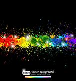 Colorful gradient paint splashes vector background. Eps10