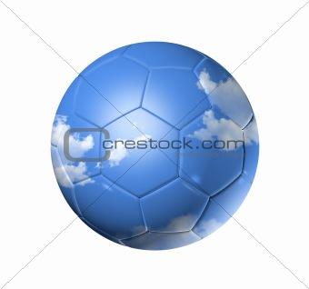 Sky on a soccer football ball
