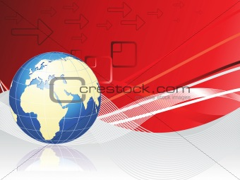 abstract background with globe vector illustration