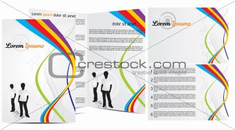 abstract brochure in wave concept