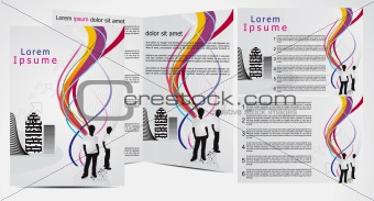 abstract brochure with wave concept