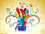 abstract colorful magic box