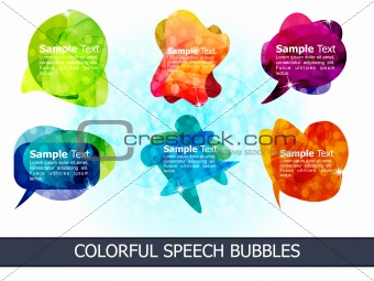 abstract colorful speech bubbles