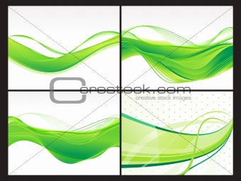 abstract eco background set