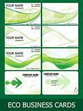 abstract eco green business cards