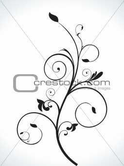abstract floral ornamental design