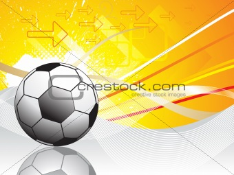abstract football with wave