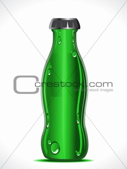 abstract green beer bottle