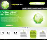 abstract green web template