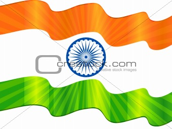 abstract republic day flag