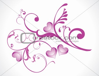 abstract love floral