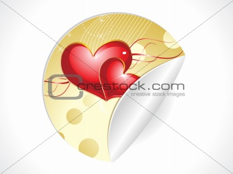 abstract valentine sticker