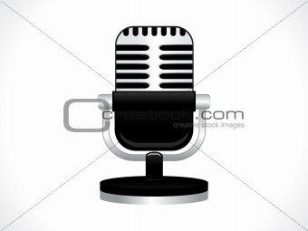 abstract microphone icon