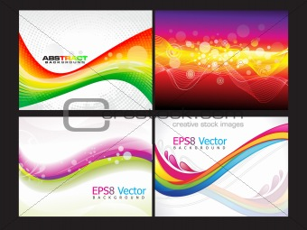 abstract multiple background set