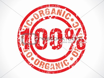 abstract hundred percent organic stamp