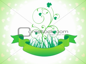 abstract st patrics floral