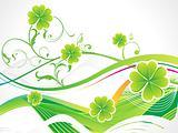 abstract st patricks clover
