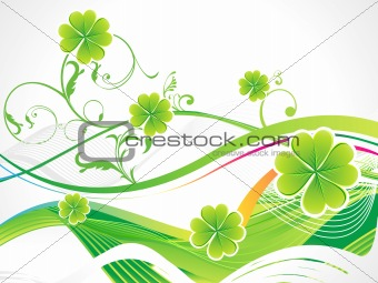 abstract st patricks clover