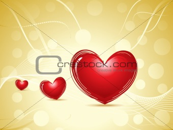 abstract valentine heart concept
