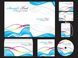 abstract blue corporate id