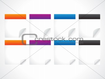 abstract colorful sticker